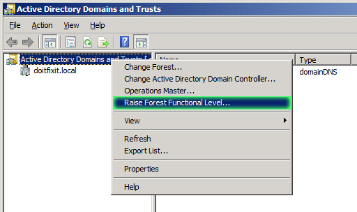 Raise forest functional level