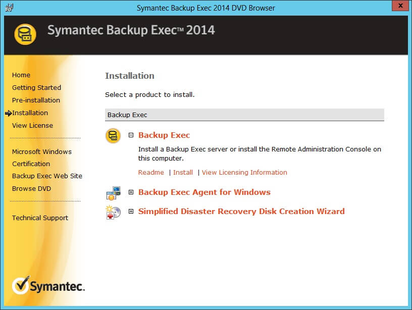 Backup Exec Caso Licensing