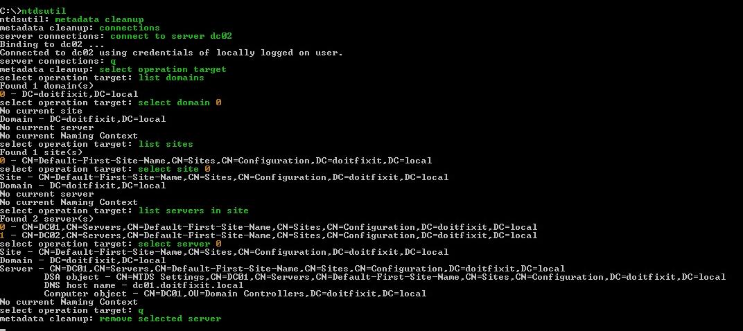 Remove Crashed Domain Using Ntdsutil_www.doitfixit.com (2)