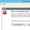 WSUS 4 Console crash – Connection Error