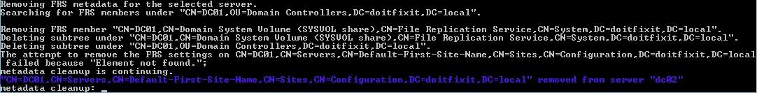Remove Crashed Domain Using Ntdsutil_www.doitfixit.com (4)